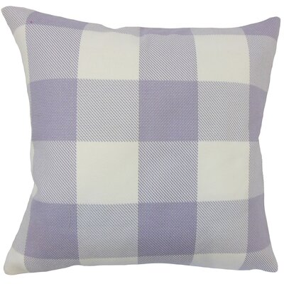 Ronzi Plaid Down Filled 100% Cotton Throw Pillow Size: 24 x 24, Color: Purple