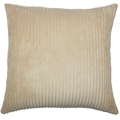 Janelle Solid Down Filled Throw Pillow Size: 18 x 18, Color: Buff