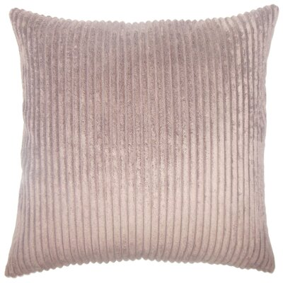 Janelle Solid Down Filled Throw Pillow Size: 18 x 18, Color: Chocolate