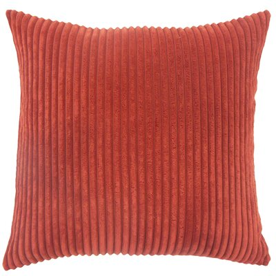 Janelle Solid Down Filled Throw Pillow Size: 22 x 22, Color: Crimson