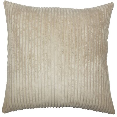 Janelle Solid Down Filled Throw Pillow Size: 24 x 24, Color: Taupe