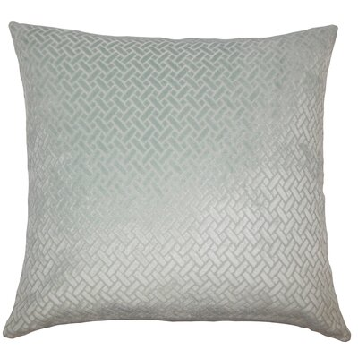 Pawel Solid Down Filled Lumbar Pillow Color: Aqua