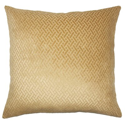 Pawel Solid Down Filled Lumbar Pillow Color: Gold