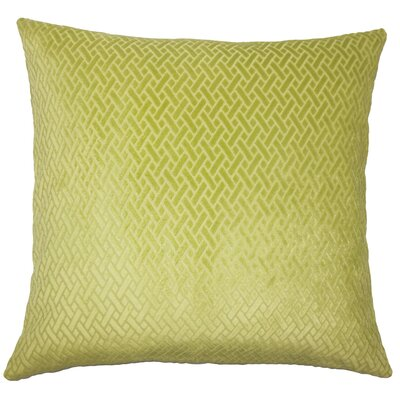 Pawel Solid Down Filled Lumbar Pillow Color: Grass