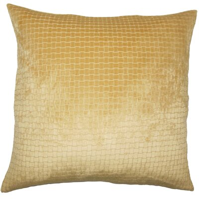 Abrahams Solid Floor Pillow Color: Camel