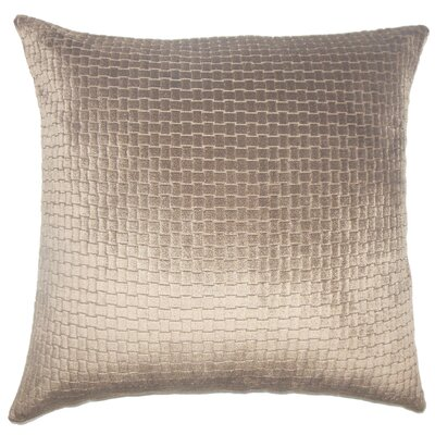 Abrahams Solid Floor Pillow Color: Dark Brown