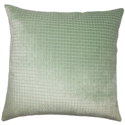 Abrahams Solid Floor Pillow Color: Seafoam