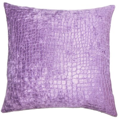 Lelon Solid Down Filled Lumbar Pillow Color: Amethyst