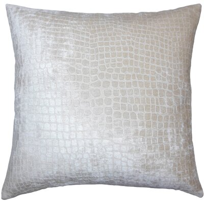 Lelon Solid Down Filled Throw Pillow Size: 18 x 18, Color: Beige