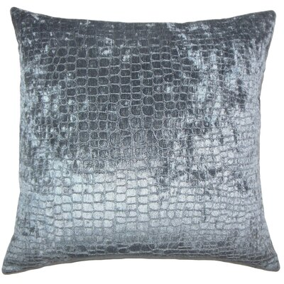 Lelon Solid Down Filled Lumbar Pillow Color: Graphite