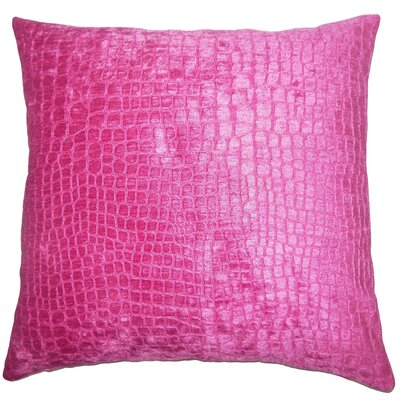 Acuff Solid Floor Pillow Color: Magenta