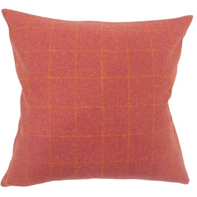 Harshil Plaid Down Filled Lumbar Pillow Color: Red