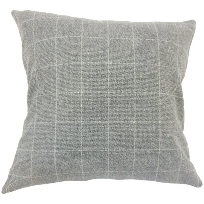 Harshil Plaid Down Filled Throw Pillow Size: 18 x 18, Color: Gray