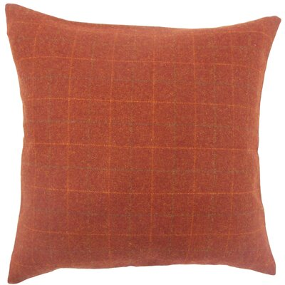 Dougherty Plaid Floor Pillow Color: Deep Red