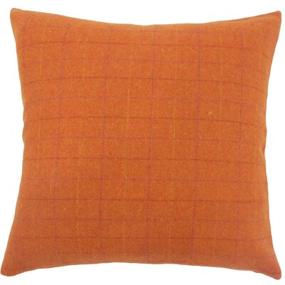 Dougherty Plaid Floor Pillow Color: Orange