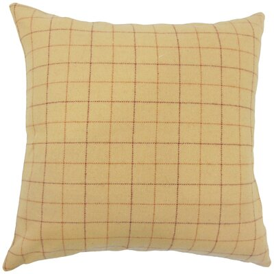 Sherwin Plaid Down Filled Lumbar Pillow Color: Tan