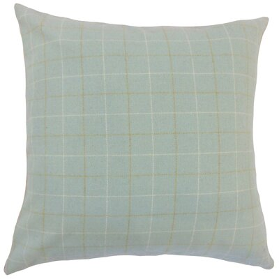 Crowley Plaid Throw Pillow Color: Blue