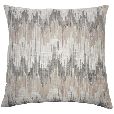 Wiegand Ikat Down Filled Throw Pillow Size: 20 x 20, Color: Driftwood