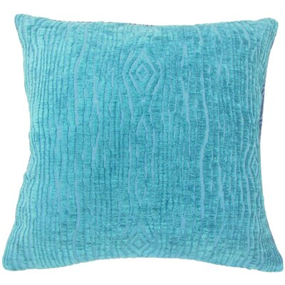 Cotulla Solid Down Filled Throw Pillow Size: 18 x 18, Color: Peacock