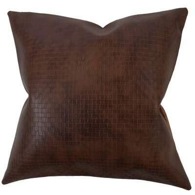 Caldina Solid Down Filled Lumbar Pillow Color: Dark Brown