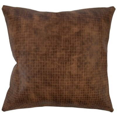 Caldina Solid Down Filled Throw Pillow Size: 24 x 24, Color: Brown