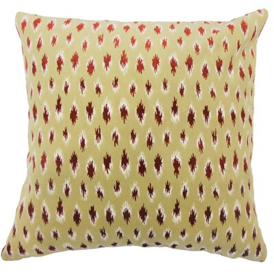 Drucilla Ikat Floor Pillow Color: Cayenne