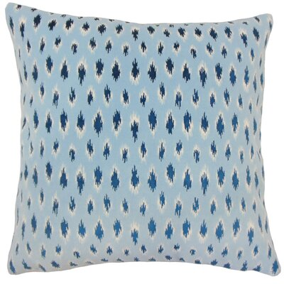 Upland Ikat Down Filled Throw Pillow Size: 22 x 22, Color: Chambray
