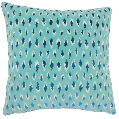 Upland Ikat Down Filled Lumbar Pillow Color: Turquoise