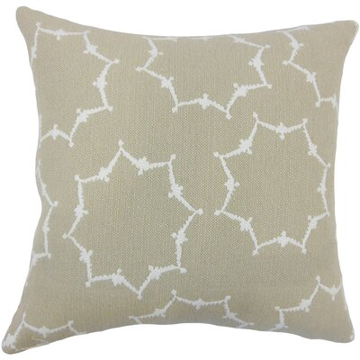 Brushgrove Geometric Floor Pillow Color: Tan