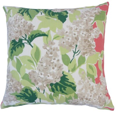 Raegan Floral Floor Pillow Color: Rhubarb