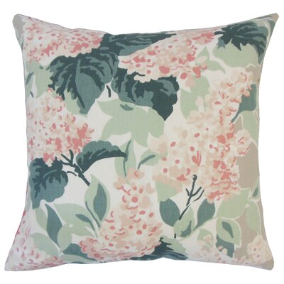 Ramessar Floral Down Filled 100% Cotton Lumbar Pillow Color: Oyster