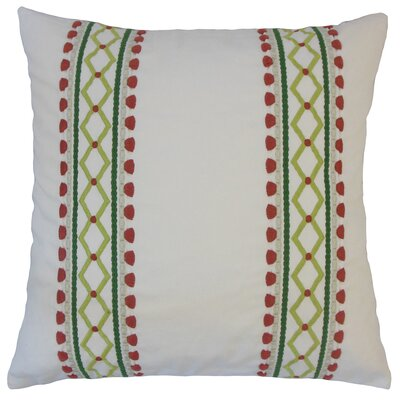 Navarro Geometric Floor Pillow Color: Rhubarb