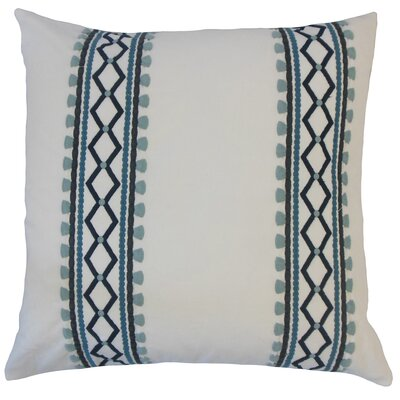 Kinser Geometric Down Filled 100% Cotton Throw Pillow Size: 24 x 24, Color: Indigo