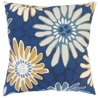 Alford Floral Floor Pillow Color: Indigo