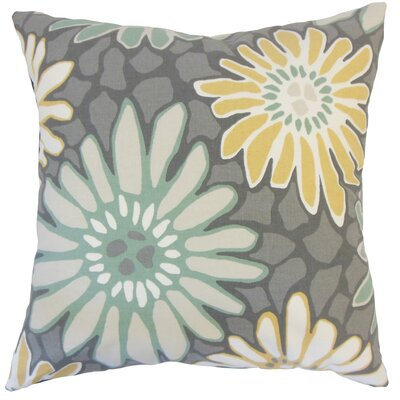Alford Floral Floor Pillow Color: Dew