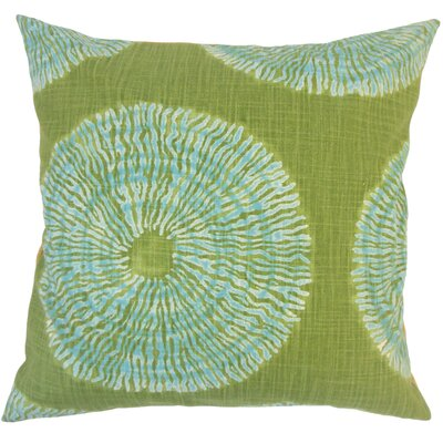 Sherrick Ikat Down Filled 100% Cotton Throw Pillow Size: 24 x 24, Color: Seaglass