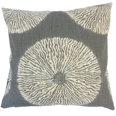 Sherrick Ikat Down Filled 100% Cotton Throw Pillow Size: 24 x 24, Color: Graystone