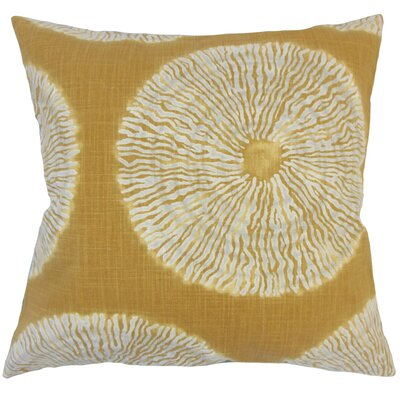 Sherrick Ikat Down Filled 100% Cotton Throw Pillow Size: 22 x 22, Color: Amber