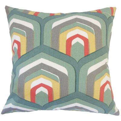 Shana Geometric Down Filled 100% Cotton Throw Pillow Size: 18 x 18, Color: Dew