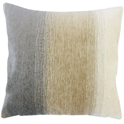 Wigington Ombre Down Filled Lumbar Pillow Color: Charcoal