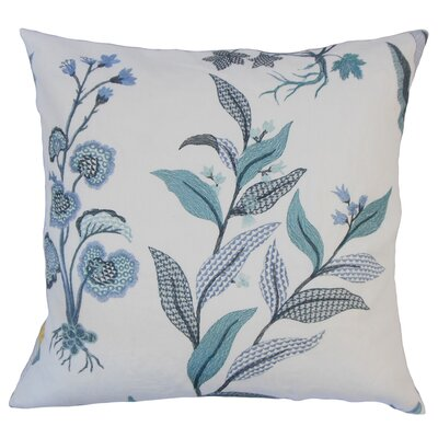Olga Floral Floor Pillow Color: Indigo