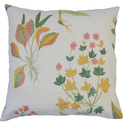 Olga Floral Floor Pillow Color: Daffodil