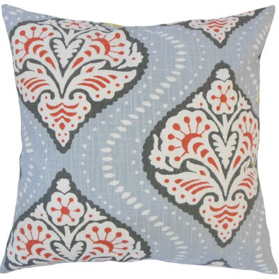 Nichols Hills Damask Down Filled 100% Cotton Throw Pillow Size: 18 x 18, Color: Persimmon