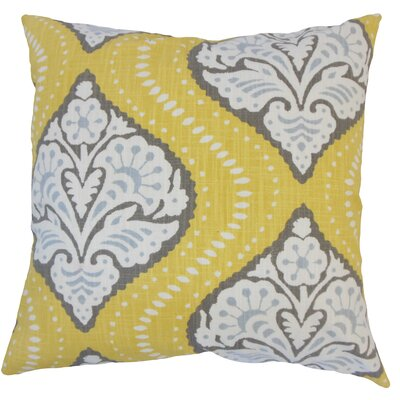 Nichols Hills Damask Down Filled 100% Cotton Throw Pillow Size: 20 x 20, Color: Dandelion