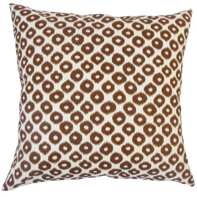 Terah Ikat Down Filled 100% Cotton Lumbar Pillow Color: Tobacco