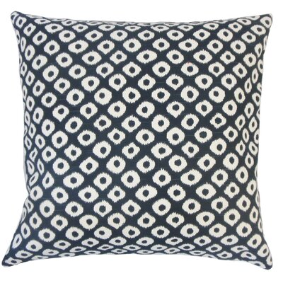 Terah Ikat Down Filled 100% Cotton Throw Pillow Size: 18 x 18, Color: Indigo