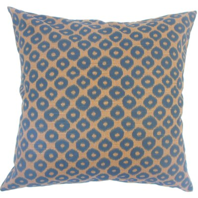 Terah Ikat Down Filled 100% Cotton Lumbar Pillow Color: Chocolate