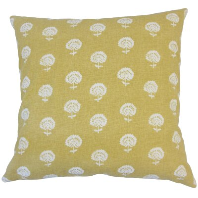 Anija Ikat Down Filled 100% Cotton Throw Pillow Size: 22 x 22, Color: Amber