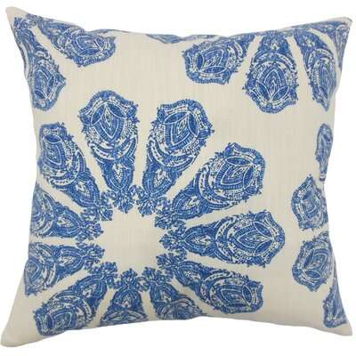 Candice Ikat Floor Pillow Color: Lapis