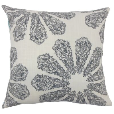 Candice Ikat Floor Pillow Color: Gray